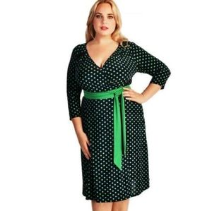 IGIGI Dominique Faux Wrap Dress Size 16